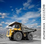 Heavy Mining Truck Driving...