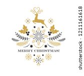 merry christmas greeting card   ... | Shutterstock .eps vector #1211161618