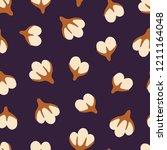 cotton flowers. seamless hand...   Shutterstock .eps vector #1211164048