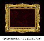 decorative vintage frame and... | Shutterstock .eps vector #1211166715