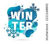modern design winter template... | Shutterstock .eps vector #1211168842