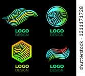 vector logo design elements set.... | Shutterstock .eps vector #1211171728