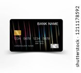 colorful credit card template... | Shutterstock .eps vector #1211178592