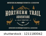 the northern trail. original... | Shutterstock .eps vector #1211180062