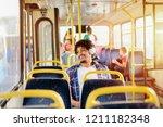 young modern afro american man... | Shutterstock . vector #1211182348