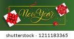 new year banner design. red... | Shutterstock .eps vector #1211183365