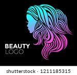 illustration of woman with... | Shutterstock .eps vector #1211185315