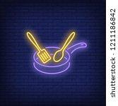 cooking neon sign. luminous... | Shutterstock .eps vector #1211186842