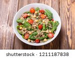 spinach salad with quinoa  ... | Shutterstock . vector #1211187838