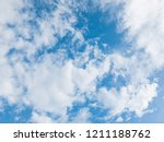 blue sky and white clouds.... | Shutterstock . vector #1211188762