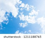 blue sky and white clouds.... | Shutterstock . vector #1211188765