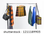 fashion stripy clothing with... | Shutterstock . vector #1211189905