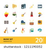music icon set. trumpet player... | Shutterstock .eps vector #1211190352
