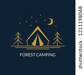 camp logo. forest camping... | Shutterstock .eps vector #1211198068