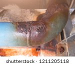 rust and corrosion in the... | Shutterstock . vector #1211205118