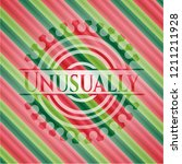 unusually christmas style badge.... | Shutterstock .eps vector #1211211928