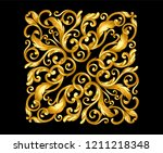 gold ornament baroque style  on ... | Shutterstock .eps vector #1211218348