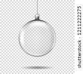 transparent realistic christmas ... | Shutterstock .eps vector #1211222275