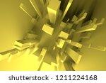 3d rendering. colorful lighting ... | Shutterstock . vector #1211224168