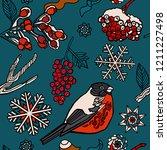 seamless pattern design  winter ...   Shutterstock .eps vector #1211227498