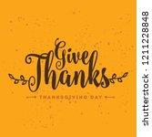 thanksgiving day. logo  text... | Shutterstock .eps vector #1211228848