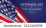 11th november   veterans day.... | Shutterstock .eps vector #1211242078