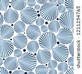 Sea Seamless Pattern With Blue...