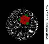 vector xmas greeting card with... | Shutterstock .eps vector #121125742