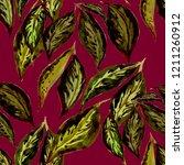 watercolor seamless pattern... | Shutterstock . vector #1211260912