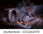 Old Rusty Tool In The Dark Roo...