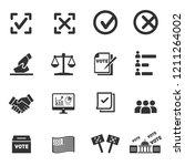 vote icons vector | Shutterstock .eps vector #1211264002