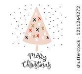christmas card with calligraphy ... | Shutterstock .eps vector #1211264272