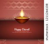 abstract stylish happy diwali...   Shutterstock .eps vector #1211266108
