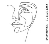 continuous line  drawing of set ...   Shutterstock .eps vector #1211281255