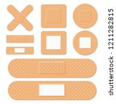 medical patch  adhesive bandage.... | Shutterstock .eps vector #1211282815
