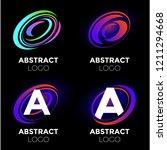 vector logo design elements set ... | Shutterstock .eps vector #1211294668