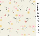 small pink and yellow flower... | Shutterstock .eps vector #1211297692