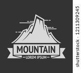 mountain exploration vintage... | Shutterstock . vector #1211309245