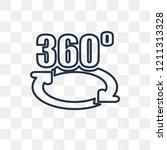 360 degrees vector outline icon ... | Shutterstock .eps vector #1211313328