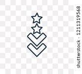 rank vector outline icon...   Shutterstock .eps vector #1211319568