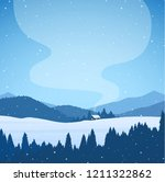 vector illustration  winter... | Shutterstock .eps vector #1211322862