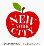 the big apple  new york city... | Shutterstock .eps vector #1211346148