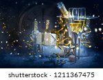 happy new year 2019  christmas... | Shutterstock . vector #1211367475