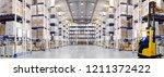 huge distribution warehouse... | Shutterstock . vector #1211372422