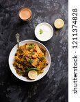 homemade kothu parotta  paratha ... | Shutterstock . vector #1211374828