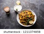 homemade kothu parotta  paratha ... | Shutterstock . vector #1211374858