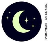 night sky flat icon. dream...   Shutterstock .eps vector #1211375302