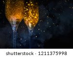 happy new year 2019  christmas... | Shutterstock . vector #1211375998