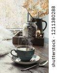 still life in home interior.... | Shutterstock . vector #1211380288