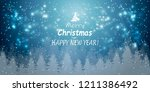 merry christmas happy new year  ... | Shutterstock .eps vector #1211386492